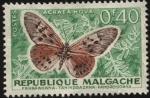 Sellos de Africa - Madagascar -  República de Malgache. Mariposa Acraea Ova.