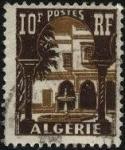 Sellos de Africa - Argelia -  Patio del Museo del Bardo en Argel.