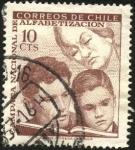Stamps Chile -  Campaña nacional de alfabetización.
