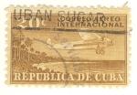 Sellos de America - Cuba -  avion