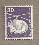 Sellos de Europa - Alemania -  Helicóptero
