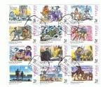 sellos de Europa - España -  Correspondencia Epistolar Escolar  Escenas de Don Quijote  2ª parte