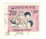 Sellos del Mundo : Asia : Corea_del_sur : soldado y niño