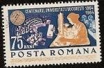 Stamps Romania -  Centenario Universidad de Bucarest