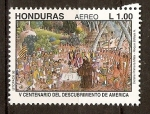 Stamps of the world : Honduras :  PRIMERA  MISA