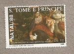 Stamps São Tomé and Príncipe -  Navidad 1988