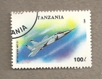 Stamps Tanzania -  Reactor Mig31