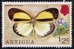 Sellos de America - Antigua y Barbuda -  Mariposas