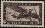 Sellos del Mundo : Asia : Francia : Indochina, colonia francesa de Asia. Aeroplano monomotor. Correo Aéreo.