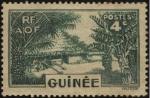 Sellos de Africa - Guinea -  Aldea de la tribu MABO, en el área de Fouta Djalon.