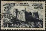Stamps Africa - Tunisia -  El fuerte genovés de la ciudad de Tabarka.