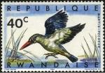 Stamps Rwanda -  Aves de Rwanda. Martín Pescador