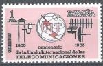 Sellos de Europa - España -  Centenario de la Union Internacional de las Telecomunicaciones