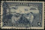 Sellos de America - Nicaragua -  WILL ROGERS recibido por los marinos americanos Homenaje de Nicaragua al destacado cowboy, humorista