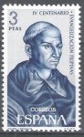 Sellos del Mundo : Europa : España : IV centenario de la Evangelización de Filipinas.Padre Andres de Urdaneta