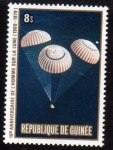 Stamps Guinea -  10 Aniversario del hombre sobre la Luna
