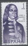 Sellos de Europa - España -  Forjadores de America. Jose A. Manso de Velasco.