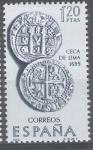 Stamps Spain -  Forjadores de America. Ceca de Lima.Año 1699.