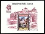 Stamps Spain -  ESPAÑA 1989 3012 Sello Nuevo HB Exposición Filatelica Nacional Exfilna'89 Sagrada Familia El Greco P
