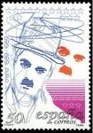 Sellos de Europa - España -  ESPAÑA 1989 3014 Sello ** Centenarios Actor Charlie Chaplin, Charlot Michel2903 Scott2607