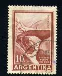 sellos de America - Argentina -  mendoza puente del inca