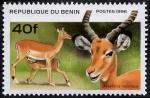 Stamps Benin -  Antilopes