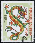 Stamps Africa - Benin -  Año del Dragon