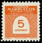 Sellos de Africa - Marruecos -  Marruecos 382 **.  Cifras