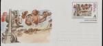 Stamps Spain -  escenas del Quijote - sobre prefranqueado