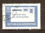 Sellos de America - Argentina -  PEGADO  DE  SELLOS