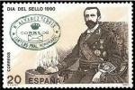 Stamps Spain -  ESPAÑA 1990 3057 Sello Nuevo Dia del Sello Rafael Alvarez Sereix Scott2621