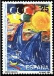 Sellos de Europa - España -  ESPAÑA 1991 3107 Sello Nuevo Olimpiadas del 92 Diseño Infantil ganador Concurso Filatelico Escolar M