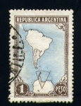 Stamps Argentina -  Mapa