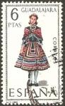 Stamps Spain -  1847 - trajes típicos españoles, guadalajara