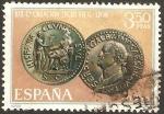Stamps Spain -  1873 - XIX centº de la legio VII gemina fundadora de león, moneda de galba
