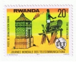 Stamps Africa - Rwanda -  Journee Mondiale des telecommunications