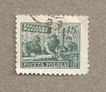 Stamps Poland -  Reconstrucción Varsovia