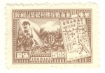 Stamps China -  batalla