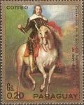 Stamps Paraguay -  Pinturas de caballeros