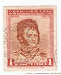 Stamps : America : Chile :  B O´Higgins  sesquincentenario del primer gobierno nacional
