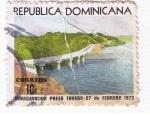 Sellos del Mundo : America : Rep_Dominicana : Inauguración Presa TRavera 2 Febrero 1973