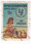 Stamps : America : Dominican_Republic :  UNICEF  XXV Aniversario