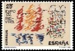 Sellos de Europa - España -  ESPAÑA 1992 3153 Sello Nuevo EXPO'92 Diseño Infantil ganador Concurso Filatelico Escolar Michel3026