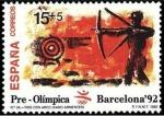 Sellos de Europa - España -  ESPAÑA 1992 3157 Sello Nuevo Barcelona'92 VIII Serie Pre-Olímpica Tiro con Arco Michel3030 ScottB191