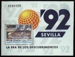 Sellos del Mundo : Europa : España : ESPAÑA 1992 3191 HB Sello Nuevo Exposición Universal Sevilla EXPO'92 Vista de Sevilla desde Triana y
