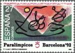 Stamps Spain -  ESPAÑA 1992 3192 Sello Nuevo Juegos Paralímpicos Diseño de Albert Rafols Casamada Michel3061 Scott26