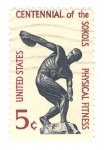 Stamps United States -  cent. sokols physical