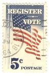 Stamps United States -  register vote