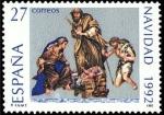 Stamps Spain -  ESPAÑA 1992 3227 Sello Nuevo Navidad Nacimiento obra de Obdulia Acevedo Michel3088 Scott2688