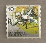 Stamps Burundi -  Exploración de la luna